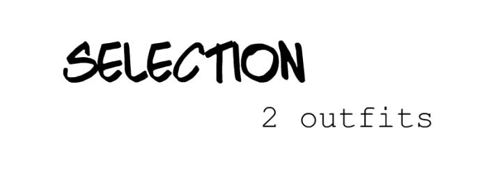 Sélection 2 outfits♡